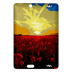 Poppy Field Amazon Kindle Fire Hd (2013) Hardshell Case by Valentinaart