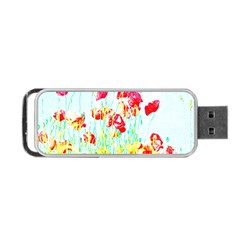 Poppy Field Portable Usb Flash (two Sides) by Valentinaart