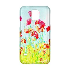 Poppy Field Samsung Galaxy S5 Hardshell Case  by Valentinaart