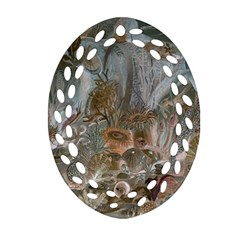 Underwater Oval Filigree Ornament (two Sides) by Valentinaart