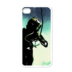 Underwater Apple Iphone 4 Case (white) by Valentinaart