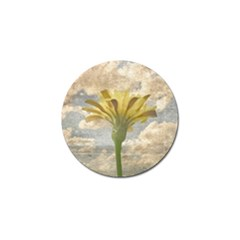 Shabby Chic Style Flower Over Blue Sky Photo  Golf Ball Marker (10 Pack) by dflcprints