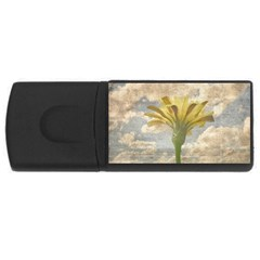 Shabby Chic Style Flower Over Blue Sky Photo  Rectangular Usb Flash Drive by dflcprints