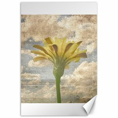Shabby Chic Style Flower Over Blue Sky Photo  Canvas 24  X 36  by dflcprints