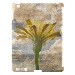 Shabby Chic Style Flower Over Blue Sky Photo  Apple Ipad 3/4 Hardshell Case (compatible With Smart Cover) by dflcprints