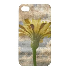 Shabby Chic Style Flower Over Blue Sky Photo  Apple Iphone 4/4s Premium Hardshell Case by dflcprints
