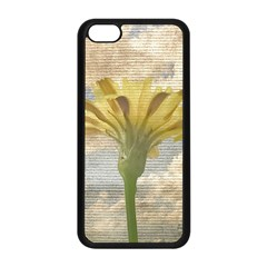 Shabby Chic Style Flower Over Blue Sky Photo  Apple Iphone 5c Seamless Case (black) by dflcprints
