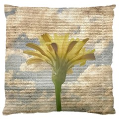 Shabby Chic Style Flower Over Blue Sky Photo  Large Flano Cushion Case (one Side) by dflcprints