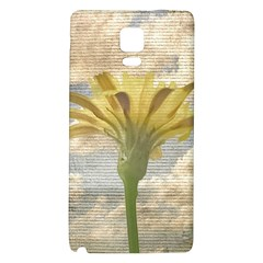 Shabby Chic Style Flower Over Blue Sky Photo  Galaxy Note 4 Back Case by dflcprints