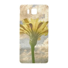 Shabby Chic Style Flower Over Blue Sky Photo  Samsung Galaxy Alpha Hardshell Back Case by dflcprints