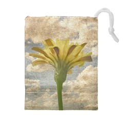 Shabby Chic Style Flower Over Blue Sky Photo  Drawstring Pouches (extra Large) by dflcprints