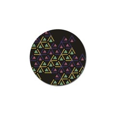 Triangle Shapes                              Golf Ball Marker by LalyLauraFLM