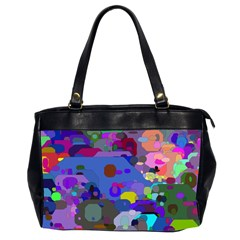 Big And Small Shapes                             Oversize Office Handbag (2 Sides) by LalyLauraFLM
