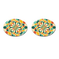 Summer Festival Cufflinks (oval) by linceazul