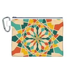 Summer Festival Canvas Cosmetic Bag (l) by linceazul