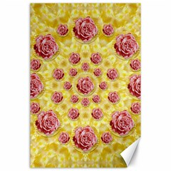 Roses And Fantasy Roses Canvas 24  X 36  by pepitasart