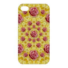 Roses And Fantasy Roses Apple Iphone 4/4s Premium Hardshell Case by pepitasart