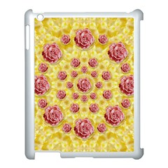 Roses And Fantasy Roses Apple Ipad 3/4 Case (white) by pepitasart