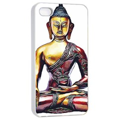 Buddha Apple Iphone 4/4s Seamless Case (white) by taoteching