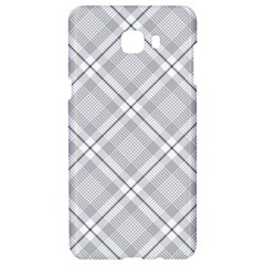 Grey Diagonal Plaid Samsung C9 Pro Hardshell Case  by NorthernWhimsy