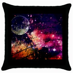 Letter From Outer Space Throw Pillow Case (black) by augustinet
