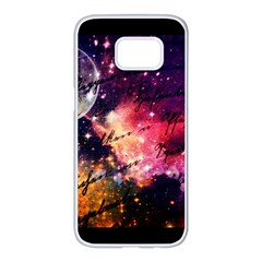 Letter From Outer Space Samsung Galaxy S7 Edge White Seamless Case by augustinet