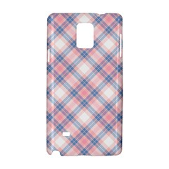 Pastel Pink And Blue Plaid Samsung Galaxy Note 4 Hardshell Case by NorthernWhimsy