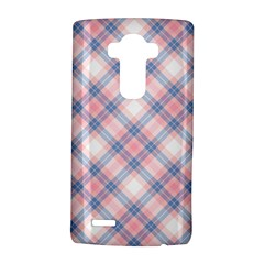 Pastel Pink And Blue Plaid Lg G4 Hardshell Case by NorthernWhimsy
