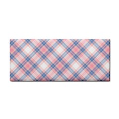 Pastel Pink And Blue Plaid Cosmetic Storage Cases by NorthernWhimsy