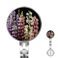 Flowers Stainless Steel Nurses Watch by Valentinaart