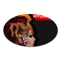 Transvestite Oval Magnet by Valentinaart