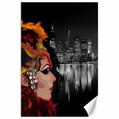 Transvestite Canvas 24  X 36  by Valentinaart