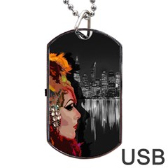 Transvestite Dog Tag Usb Flash (two Sides) by Valentinaart