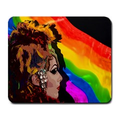 Transvestite Large Mousepads by Valentinaart