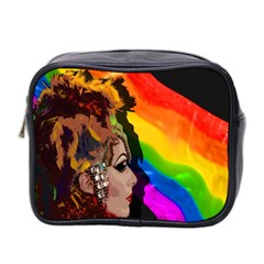 Transvestite Mini Toiletries Bag 2 Side by Valentinaart