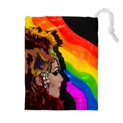 Transvestite Drawstring Pouches (extra Large) by Valentinaart