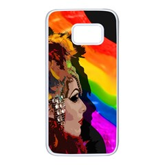 Transvestite Samsung Galaxy S7 White Seamless Case by Valentinaart