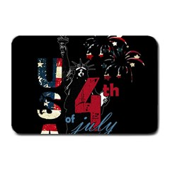 4th Of July Independence Day Plate Mats by Valentinaart