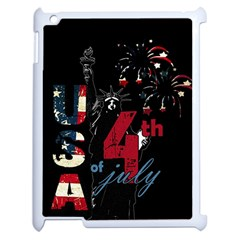 4th Of July Independence Day Apple Ipad 2 Case (white) by Valentinaart