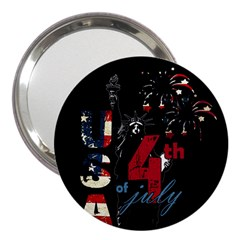 4th Of July Independence Day 3  Handbag Mirrors by Valentinaart