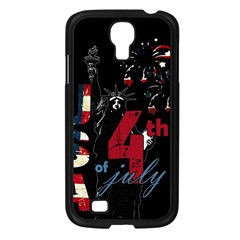 4th Of July Independence Day Samsung Galaxy S4 I9500/ I9505 Case (black) by Valentinaart