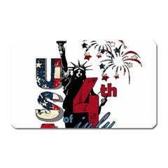 4th Of July Independence Day Magnet (rectangular) by Valentinaart