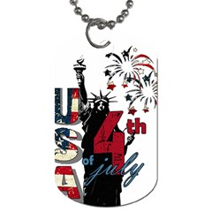4th Of July Independence Day Dog Tag (two Sides) by Valentinaart