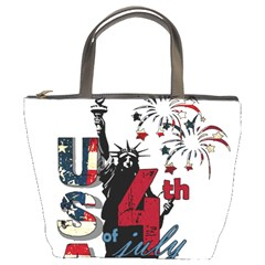 4th Of July Independence Day Bucket Bags by Valentinaart