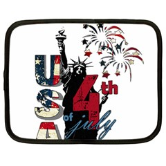 4th Of July Independence Day Netbook Case (xl)  by Valentinaart