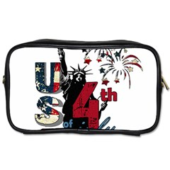 4th Of July Independence Day Toiletries Bags by Valentinaart