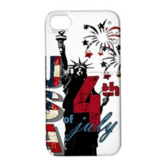 4th Of July Independence Day Apple Iphone 4/4s Hardshell Case With Stand by Valentinaart