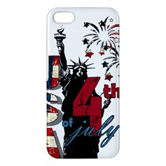 4th Of July Independence Day Apple Iphone 5 Premium Hardshell Case by Valentinaart