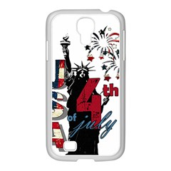 4th Of July Independence Day Samsung Galaxy S4 I9500/ I9505 Case (white) by Valentinaart