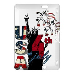 4th Of July Independence Day Kindle Fire Hdx 8 9  Hardshell Case by Valentinaart